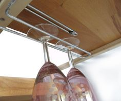 IKEA does not have any wine glass holder in stock. But, thankfully, there is a T. - Ikea Hack Tips Hanging Wine Glass Rack, Wine Glass Shelf, Wine Glass Holder, Glass Shelves, Malm Hack, Hack Ikea, Wine Rack Design, Malm Dresser, Organizing Hacks