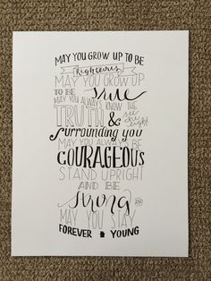 Hand lettered quotes: Parenthood theme song by alliewitdesigns Love You So Much, My Love, Hand Lettering Quotes, Theme Song, Forever Young, Growing Up, Songs, Etsy, Life