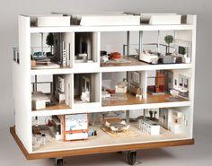 Resultado de imagen de casas minimalistas de muñecas