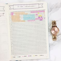 Bullet Journal Time Tracker Template