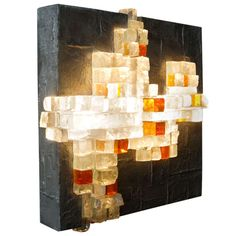 A rare wall light by Poliarte. | From a unique collection of antique and modern wall lights and sconces at http://www.1stdibs.com/furniture/lighting/sconces-wall-lights/