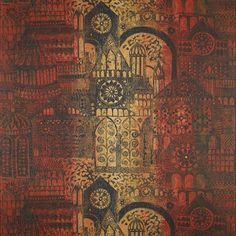 Printed Fabric: Architectural Design - John Piper for Sandersons