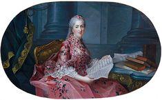 Fig.10 : Henri-Philippe Coqueret, d'après François-Hubert Drouais, Sophie-Philippine-Élisabeth de France, dite Madame Sophie (1734-1782), huile sur toile, 1,09m × 1,52m. Versailles, musée national des châteaux de Versailles et Trianon, MV2182.