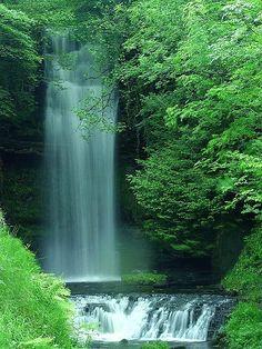 "Glencar waterfall in Ireland scene of William Butler Yeats poem ""Stollen Child"""