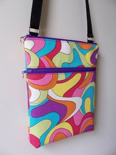 Mod+Multi-Color+Bright+Groovy+Small+Zipper+by+BHipBags+on+Etsy