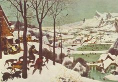 Hunters in the Snow, 1565 by Pieter Brueghel the Elder, Flemish Renaissance painter and printmaker