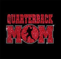 Women's Glitter and Rhinestone Football Mom Shirt Football Mom Jersey, Football Mom Shirts, Sports Shirts, Football Moms, Football Season, Football Stuff, Football Slogans, Football Girlfriend, Football Gear