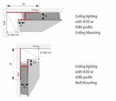 Hera Lighting led mounting profile for drywall