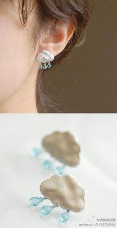 Rain ear rings