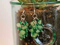 Perfect gift for any occasion!!! Birthdays, anniversaries, bridesmaid jewelry, you name it! Make sure you buy an extra pair because Im sure youd want to keep one for yourself!  This refreshing semi-precious stone green agate cluster earring will surely give you an extra glow paired with your favorite green outfit! According to healingwithcrystals, Green Agate enhances mental and emotional flexibility and improves decision making. It is useful in resolving disputes.  Please contact me for…
