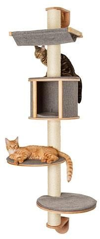 Kerbl Dolomit Tofana Wall-Mounted Cat Tree, 168 x 75 cm, Grey -- You can get additional details at the image link. Cat Activity, Cat Scratcher, Scratching Post, Cushion Fabric, Montage, Wall Mount, Dog Cat, Cat Trees, Plantation