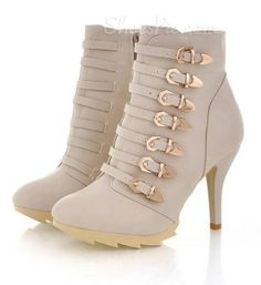 Buckles galore on these cute little ancle booties