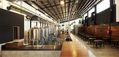 Green Beacon Brewing Company | Box & Co  inviting laboratory feel