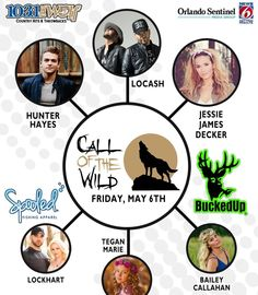 Look for us at The Wolf Call Of The Wild Concert Fri May 6 2016 Central Florida Fairgrounds Orlando FL  #buckedup #spooled #countrymusic #orlando #hunterhayes #locash #callofthewild #livemusic