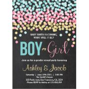 Fun Gender Reveal Baby Shower Invite. For the perfect surprise:)