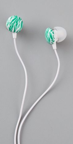 DVF earbuds with a print. so cute for laying out or running the trail!