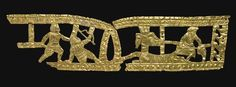 A SCYTHIAN GOLD OPENWORK PLAQUE, circa 4th Century B.C., 12-3/8 in. long. Purchased by Adolphe Stoclet in 1914.