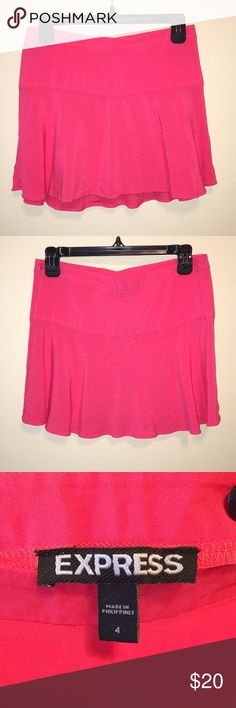 Express Hot Pink Skater Skirt Super cute and flirty skirt from Express! Worn only once Express Skirts Mini