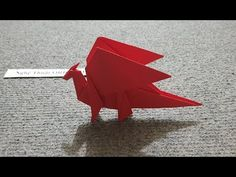 ORIGAMI - Instructions on how to fold a simple dragon # 2 - Origami Dragon . Origami Rose, Origami Ball, Instruções Origami, Useful Origami, Origami Flowers, Origami Butterfly, Fabric Origami, Paper Dragon Craft, Dragon Crafts