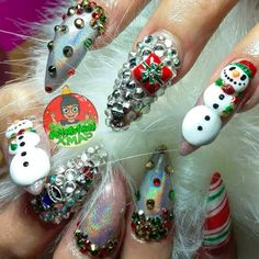 It's the holiday season girlfriend! Are you ready to get inspired to have the coolest Christmas Nails at the Christmas Party? Red Nail Polish, Red Nails, Christmas Nail Art, Cool Nail Art, You Nailed It, Festive, Nail Designs, Make It Yourself, Nail Design