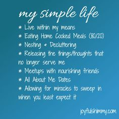 #TheSimpleLife #SimpleLife
