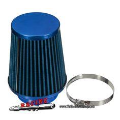 Filtro de Aire Universal de Potenciación para Coche Tuning Medida 3'' 76mm Color Azul -- 13,58€