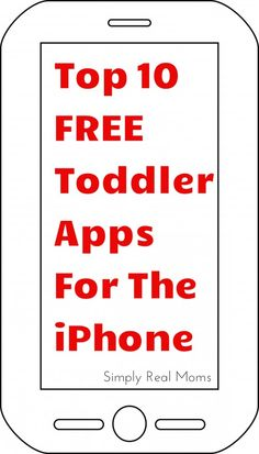 Must have iPhone apps for my toddler!