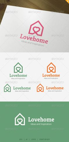 Love house Logo — Vector EPS #love #wedding studio • Available here → https://graphicriver.net/item/love-house-logo/4176331?ref=pxcr