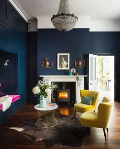 Perfect Navy Blue Living Room with Best 25 Navy Living Rooms Ideas On Home Decor Navy Blue Living Navy Blue Living Room, New Living Room, My New Room, Dark Blue Dining Room, Dark Blue Lounge, Blue And Mustard Living Room, Dark Walls Living Room, Living Room No Fireplace, Small Living