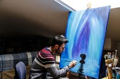 75% of people demonstrated lower stress levels by making art.