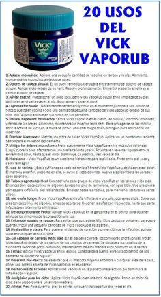20 usos del Vick Vaporub