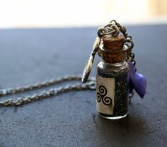 Teen Wolf Mountain Ash charm and Wolfsbane Petal Necklace