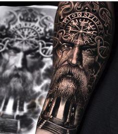 tattoo designs men forearm norse / norse tattoo designs men ` tattoo designs men forearm norse ` tattoo designs men arm norse ` norse tattoo designs for men Tattoo Odin, Posseidon Tattoo, Arlo Tattoo, 3d Tattoos, Samoan Tattoo, Viking Tattoos For Men, Viking Warrior Tattoos, Tattoos For Guys, Best Sleeve Tattoos