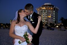 Dusk at The Grand Plaza, is a great time for wedding Photography, as the lights from the Plaza start to show.  http://celebrationsoftampabay.com/photographers-st-petersburg/