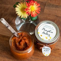 Pumpkin Butter—the perfect taste of autumn. We have some homemade apple pumpkin butter; it's amazing and better for you than jam!