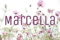 Marcella / Italian, Latin: strong, warlike, young warrior (mahr-chell-ah)