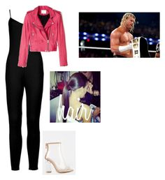 """Contest --- Stealing The Show with Dolph Ziggler"" by lsd-and-halloweencandy ❤ liked on Polyvore featuring Boohoo and B Brian Atwood"