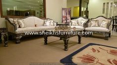 This is our solid classic rosewood sofa set. This sofa set is made in pure rosewood (sheesham) made in chiniot, Pakistan. This sofa set is handmade full of classic style carving. This sofa set is carved by our experience craftsman. This product is a valuable symbol of antique. This article can be customized on customer demand, for details you can contact us at info@sheikhsfurniture.com or  0092 315 7434547. www.facebook.com/sheikhsfurniture Contemporary Sofa, Chaise Lounge, Furniture, Living Room Sofa, Drying Room, Sofa Set, Contemporary, Home Decor, Room
