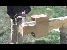 Building a Log Home or Cabin - Using the Dovetailor Jig - YouTube