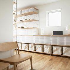 Muji PP boxes and shelves. Such clean lines! Shelf Furniture, Modular Furniture, Home Furniture, Shelf Inspiration, Interior Design Inspiration, Muji Haus, Muji Style, Zen Interiors, Home Storage Solutions