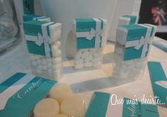 Tic Tac boxes at a Tiffany's Party #tiffanys #party