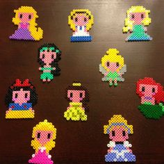 Disney Princess hama perler beads by saytalex