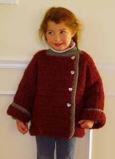 Yarning with a hook: BICO - size 6 sweater jacket A Hook, Its Cold Outside, Fall Jackets, Sweater Jacket, Turtle Neck, Pullover, Children, Crocheting, Sweaters