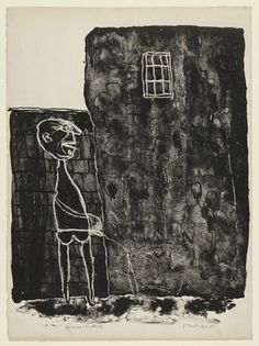 Pisser at the Wall (Pisseur au mur) from the supplementary suite for the book Walls (Les Murs ) by Eugène Guillevic