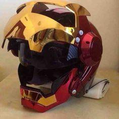 Iron Man biker helmet