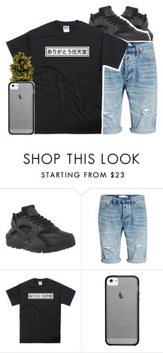 """""""-_-"""" by chynelledreamz ❤ liked on Polyvore featuring NIKE, Topman, Haze, men's fashion and menswear"""
