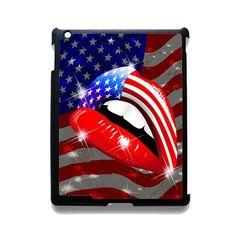 Usa Flag Lipstick Lips TATUM-11586 Apple Phonecase Cover For Ipad 2/3/4, Ipad Mini 2/3/4, Ipad Air, Ipad Air 2