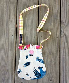 Girls feather purse