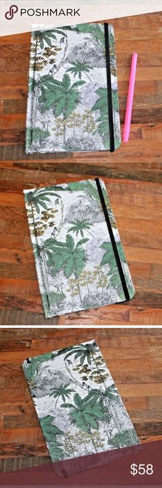 Beautiful Anthropologie Journal / Diary 🐵🙈🙉🙊🐒 Up for sale is a brand new Anthropologie journal / diary / sketchbook. Cover pattern: banana leaf / palm leaf / monkeys / tropical jungle design. Blank pages. Please feel free to contact me for any questions! ✨ Anthropologie Accessories