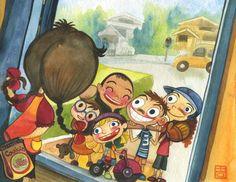 Alina Chau Book Illustration Gallery | Alina Chau Character Concept, Concept Art, Adult Cartoons, Technical Drawing, Life Drawing, Cartoon Kids, Caricature, Illustrators, Modern Art